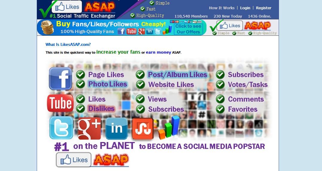 likeAsap Fanpage FaceBook