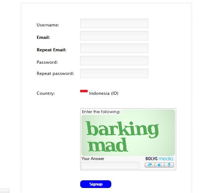 Form Register LikeAsap