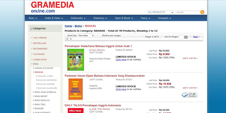 7 Toko Buku Online Terpercaya Di Indonesia Aribowo Net