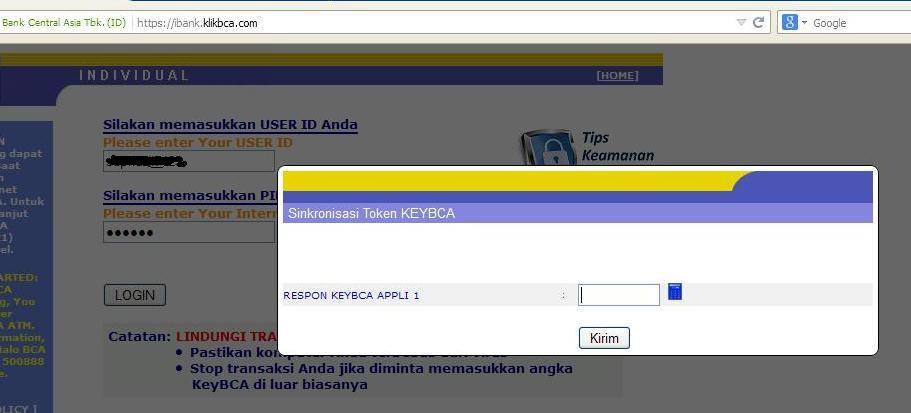 sinkronisasi token BCA