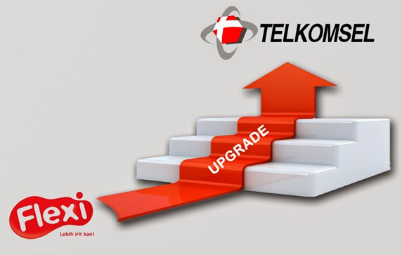 upgrade telkomsel ke flexi
